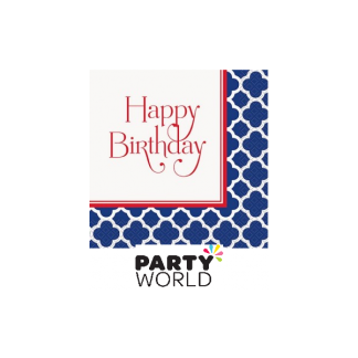 Hamptons 'Happy Birthday' Luncheon Napkins (16)