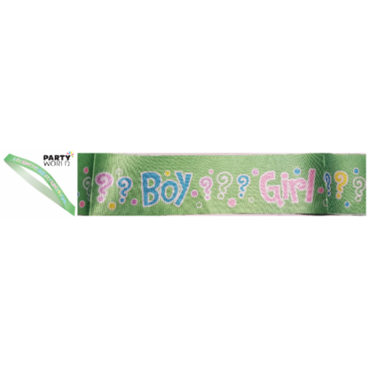 Gender Reveal Sash