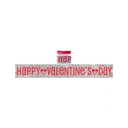 Happy Valentines Day Foil Banner