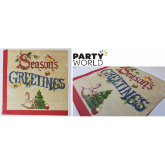 Seasons Greetings Classic Luncheon Napkins (20)