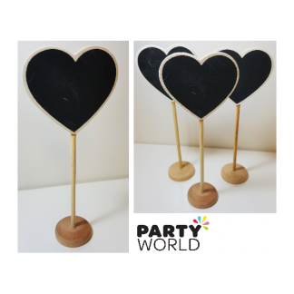 Heart Blackboard Wooden Stands (10)