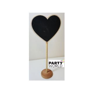Heart Blackboard Wooden Stand