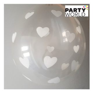 Clear Heart 18 inch Stuffing Balloon