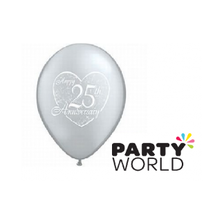 Qualatex 11 inch Latex Happy 25th Anniversary Balloons (5)