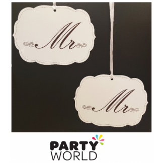 Mr & Mr Hanging Wedding Signs