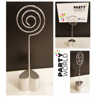 Heart Spiral Table Card Holder - 1 piece