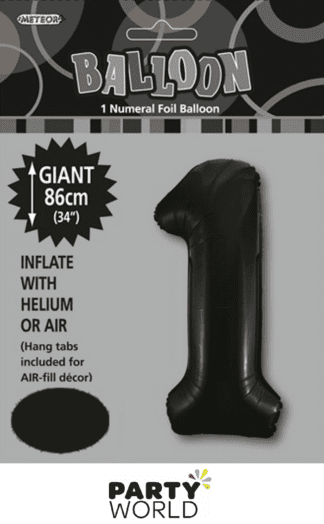 1 giant foil number black