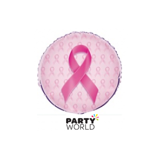 Breast Cancer Pink Ribbon Foil Balloon