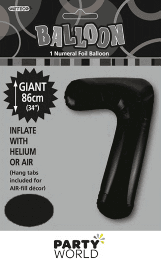 7 giant foil number black