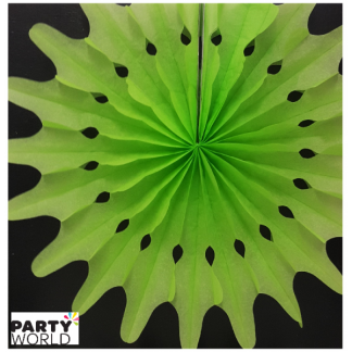 Green Decorative Paper Fan - 40cm
