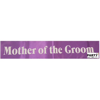 Mother of the Groom Sash - Purple with White Font