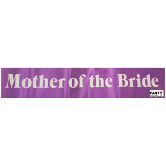Mother of the Bride Sash - Purple with White Font