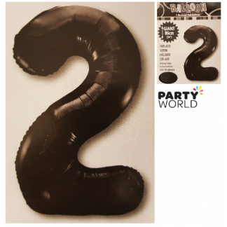 Giant Black Foil Number Balloon - 2