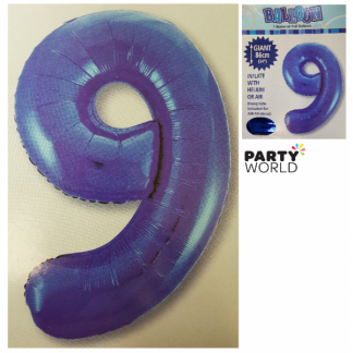 Giant Blue Foil Number Balloon - 9