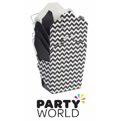 Noodle Box Black & White Chevron (4)