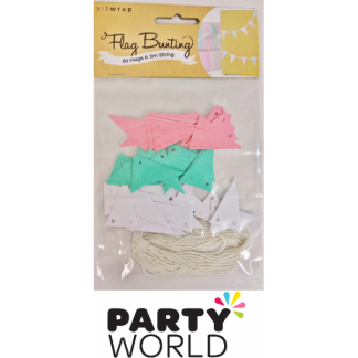Mini Flag Bunting Pack Pastel