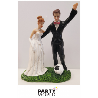 Soccer Wedding Cake Figurine