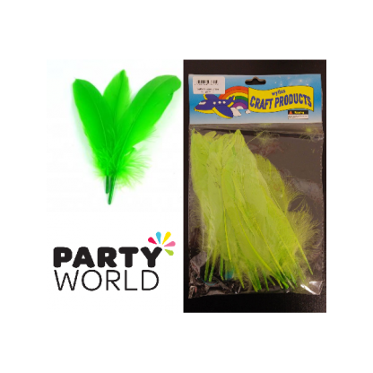 Feathers Lime Green (25)
