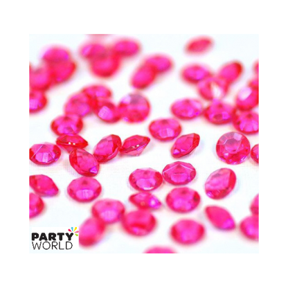 Hot Pink Diamond Table Scatters - 1cm (50)