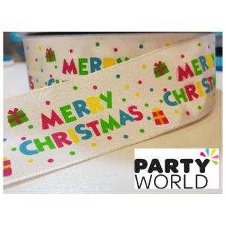 Christmas Message Ribbon - 1 metre