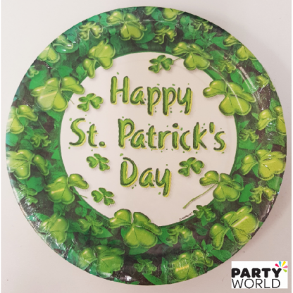Happy St. Patrick's Day Paper Plate - 7inch (8)