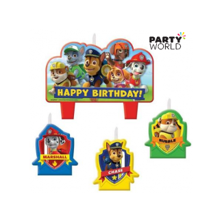 Paw Patrol Birthday Candle Set (4)