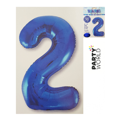 Giant Blue Foil Number Balloon - 2