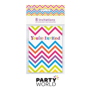 Rainbow Chevron Invites (8)