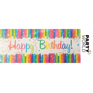 Rainbow Happy Birthday Giant Wall Banner