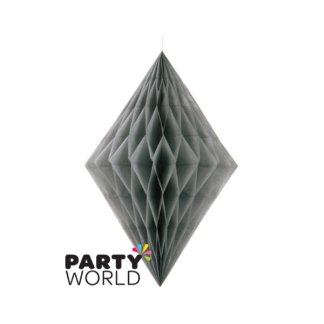 Silver Diamond Paper Decoration (14inch)