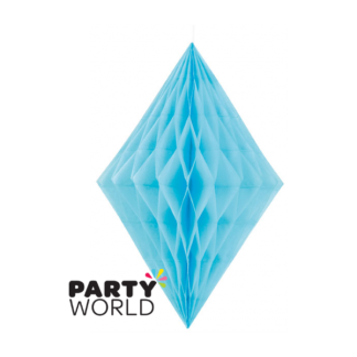 Powder Blue Diamond Paper Decoration (14inch)