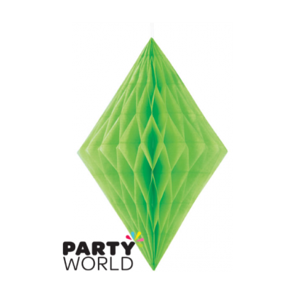 Lime Green Diamond Paper Decoration (14inch)