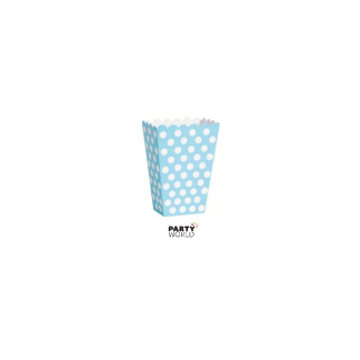 Polka Dot Treat Boxes - Powder Blue (8pk)