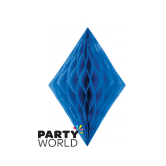 Royal Blue Diamond Paper Decoration (14inch)