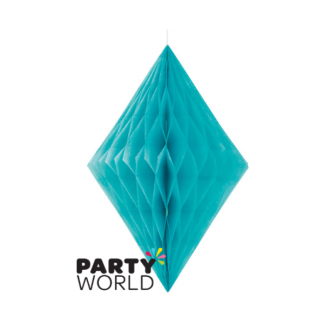 Caribbean Teal Diamond Paper Decoration (14inch)