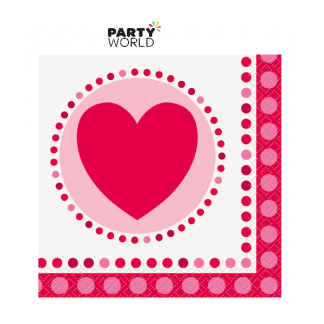Radiant Hearts Beverage Napkins (16)