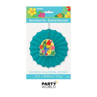Tropical Island Decorative Fan 12in - 2nds