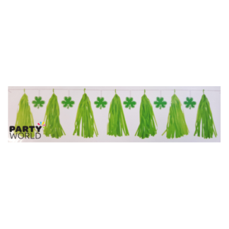 St. Patrick's Tassel Garland with cutouts - 2.13m