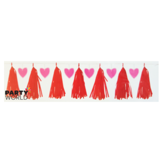 Valentines / Hearts Tassel Garland with cutouts - 2.13m