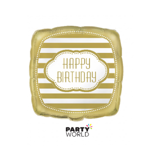 Golden Happy Birthday Foil Balloon