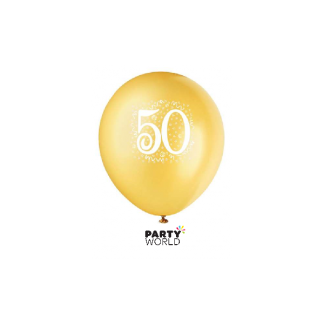 Gold 50th Balloons (6)