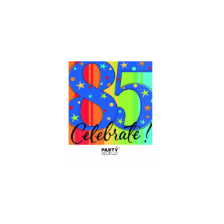85th Birthday Beverage Napkins (16)