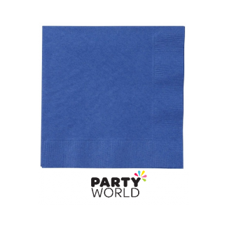 True Blue Beverage Napkins (20)