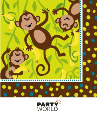 monkey birthday napkins