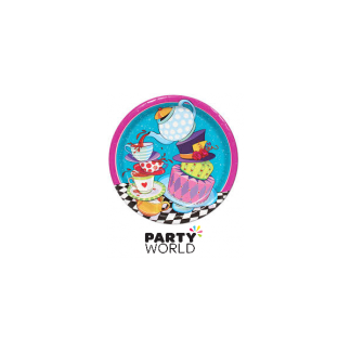 Mad Hatter Tea Party Paper Plates 9in (8)
