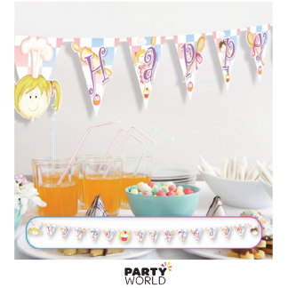 Little Cooks Happy Birthday Pennant Banner