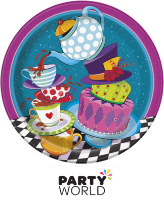 mad hatter party plates