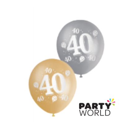 40th Gold & Silver Balloons (10)