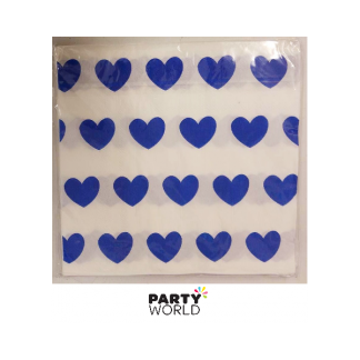 Blue Hearts Luncheon Napkins (20)