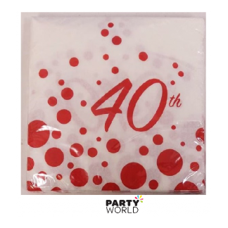 40th Sparkle Luncheon Napkins (16)